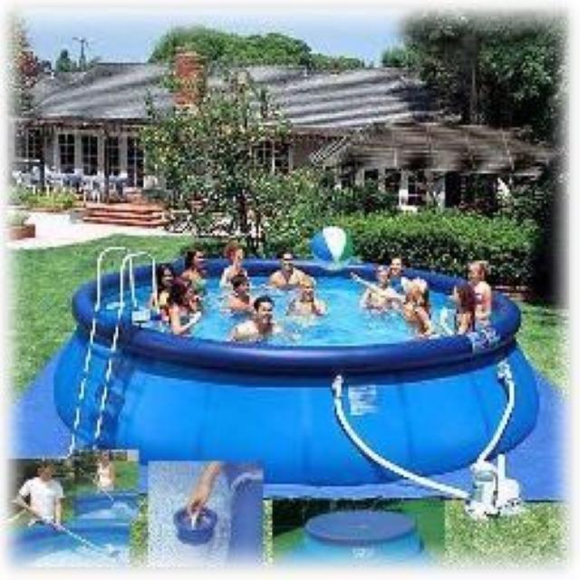e9e0b10199608 Надувной бассейн Intex 56905 Easy Set Pool, размер 549 х 122 см в  комплекте: (картриджный насос фильтр 5678 л/ч, лестница, тент, подложка,  набор для чистки, ...