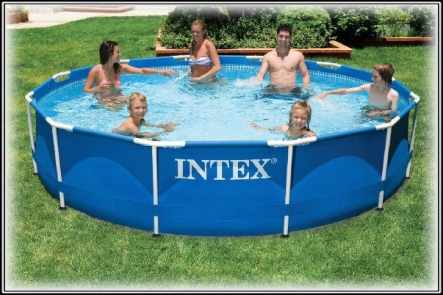 Каркасный бассейн Intex 28210 (56994) Metal Frame Pool, размер 366 х 76 см